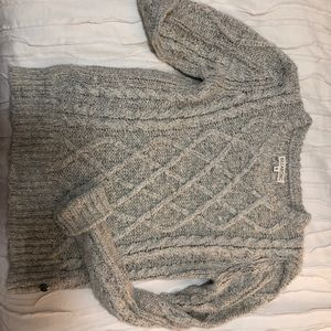 cozy billabong cable knit sweater
